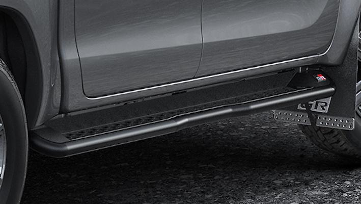 Side Steps - Construction: Aluminum/Steel - Colour: Matte Black - MS344-0K003