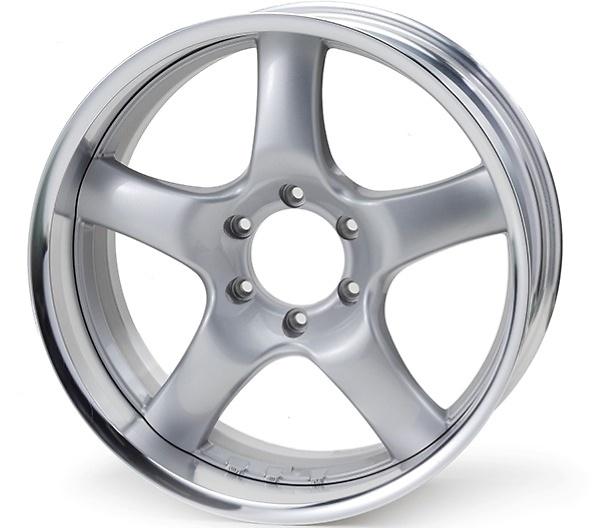 Rim: Buffed Anodized Aluminum, Disc: Bright Silver