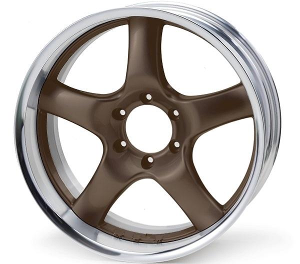 Rim: Buffed Anodized Aluminum, Disc: Bronze