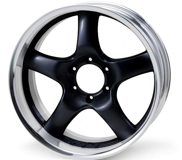 Rim: Buffed Anodized Aluminum, Disc: Super Black (glossy)