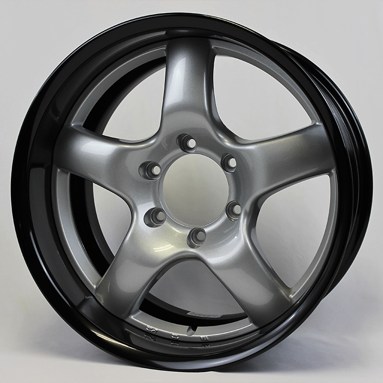 Rim: Black Anodized Aluminum, Disc: Bright Silver