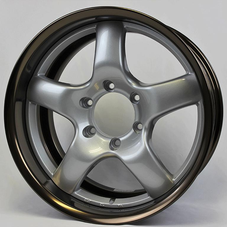 Rim: Bronze Anodized Aluminum, Disc: Bright Silver