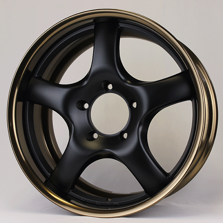 Rim: Bronze Anodized Aluminum, Disc: Matte Black