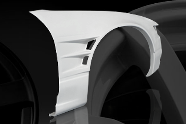 Front Wide Fenders - Material: FRP - Type: Unpainted - Width: +55mm each side - D-130-FF