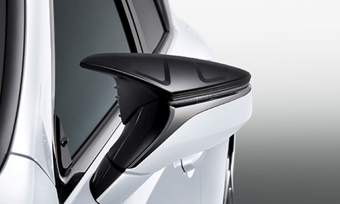 Aerodynamic Mirror Covers - Construction: Resin (ABS) - Colour: Black (212) - MS329-00001