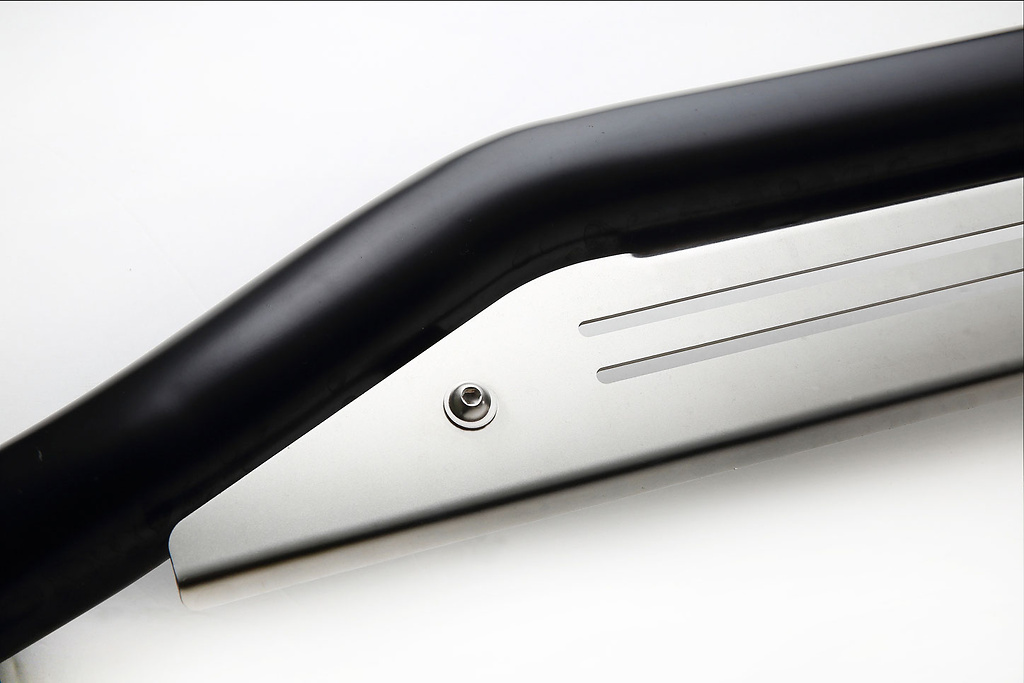 Material: Stainless Steel - Color: Bar: Black, Plate: Shot Blasted - B150098C