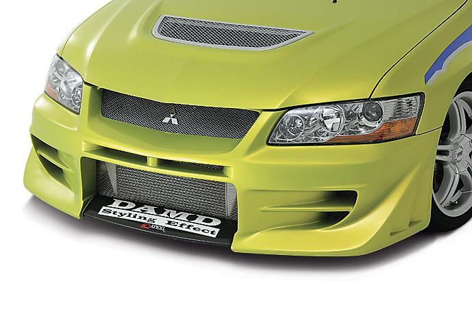 Front Bumper - Construction: FRP - Colour: Unpainted - Accent Color: Carbon Finish Centre - DAMD-EVO89-FB