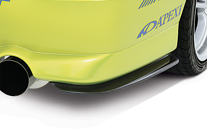 Rear Bumper Extension for VIII/MR - Construction: Carbon Fiber - DAMD-EVO89-RBE8