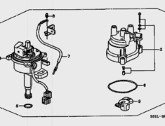 Honda Beat - Distributor Diagram