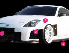 Z-Project - 350Z GT3 Aero Kit