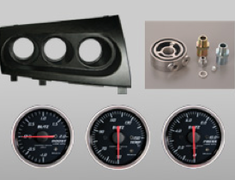 Blitz - Carbon Meter Panel and Gauges in Set
