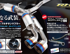 RH9 - R35 Full Titanium Muffler -100mm