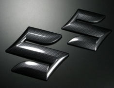 "Monster - Carbon Suzuki ""S"" Mark Emblem"