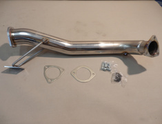 20552 Nissan S15 SR20DET Stainless steel front pipe 80mm with O2 sensor adapter (A/F Meter)