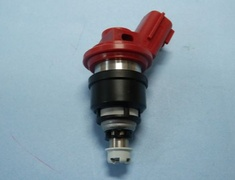 RB25DET - Color: Red - Hole: 4 - Impedance: High - Output: 740cc - Quantity: 1 - Type: Side Feed - 1402-RN009