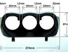 Defi - Triple Meter Hood - Mitsubishi Evo