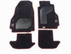 GT-R - R35 - Color: Black with Red Stitch - Quantity: 4 Mat Set - 74900-RNR50