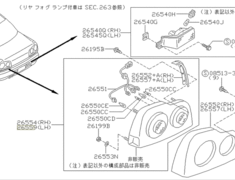 Skyline - R34 GTR - BNR34 - Rear Combination Lamp Assembly - RH - Category: Exterior - 26554-AA125