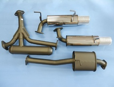 S2000 - AP1 - 32003-AH007 - Honda - S2000 AP1 - 4 Piece - Pipe 60mm + 2x50mm - Tail 94mm
