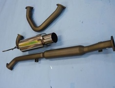 EVO IV - CN9A - 31006-AM004 - Mitsubishi - Lancer EVO CN9A CP9A - 3 Piece - Pipe 75mm - Tail 115mm