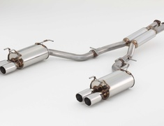 Fairlady Z - Z32 - Pieces: 3 - Pipe Size: 70.0mm - Tail Size: 94.0mm (x4) - Weight: 24.6kg - Tail Type: Round Slash - 770-15455