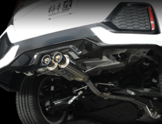 Civic - FK7 - Pieces: 3 - Pipe Size: 60mm - Tail Size: 2x80mm - H223118