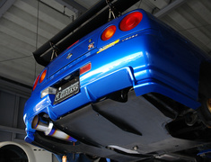 Skyline GT-R - BNR34 - With Sub Silencer - Pipe Size: 80mm - Tail Size: 130mm - Weight: 6.9kg - Body Type: A Body - Body Type: B Body - Tail Type: A Tail - Tail Type: B Tail - BNR34