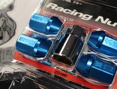 Nissan - 4 Lock Pack - Blue - 19mm - M12x1.25 - QQA-A38-2BL