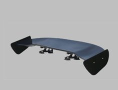 Universal - Material: Black FRP - Width: 1550mm - Height: Low 80mm - BK-LOW