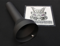 Universal - Black Paint Finish - Type: HKS Drager - Tail Diameter: 120mm - 3306-RA074