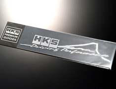 Universal - HKS STICKER FUJIYAMA - Size: 235 x 52mm - Colour: Silver (brushed) - 51003-AK116