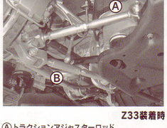 Ikeya Formula - Rear Lower Link - A: Traction Adjuster Rod, B: Rear Lower Link
