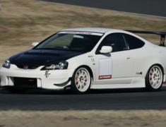 Integra - DC5 - FRP Side Skirts with Carbon Under Panels - Material: FRP/Carbon - Colour: Unpainted - JSS-T5-C