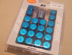 Work Wheels - Wheel Nuts RS Blue