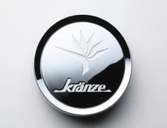 """- Kranze BAZREIA - 18""""~20"""" (3 piece wheel) - Chrome w/ White Logo - Set of 4 - 52575"""