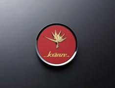 """- Kranze BAZREIA - 16""""~17"""" (2 piece wheel) - Red w/ Gold Logo - Set of 4 - 52286"""