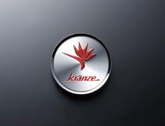 "- Kranze BAZREIA - 16""~17"" (2 piece wheel) - Silver w/ Red Logo - Set of 4 - 52233"