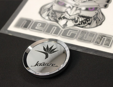 "- Kranze BAZREIA - 18""~20"" (3 piece wheel) - Chrome w/ Black Logo - 1 Cap ONLY - 52574"