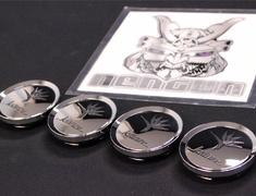 """- Kranze BAZREIA - 18""""~20"""" (3 piece wheel) - Chrome w/ Black Logo - Set of 4 - 52574"""