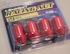 - WS-RN150S-BR (52326) - M12xP1.5 - Red - Set of 4 Nuts