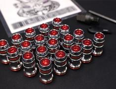 Toyota - Colour: Red - Thread: M12 x 1.5 - Quantity: 20 - Formula Nut Set
