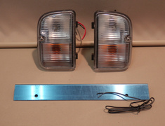 Rear Bumper Blinker and Number Light Set