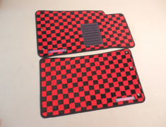 Tucking 99 floor mats Red/Black