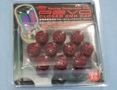 Kics - R40 REVO Closed End Cap Red - 20 Pieces
