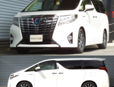Alphard Hybrid - AYH30W - Front Rate: 3.16kgf/mm - Front Height: -45-50mm - Rear Rate: 7.35kgf/mm - Rear Height: -40-40mm - T948W