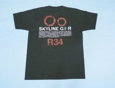 R34 Nissan GTR R34 T-Shirt Black