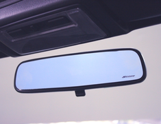 Spoon - Blue Wide Rear View Mirror
