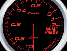 Defi Link Meter - ADVANCE BF - Intake Manifold Pressure - Amber Red