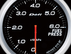 Defi Link Meter - ADVANCE BF - Fuel Press - White