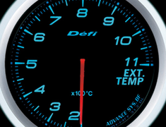 Defi Link Meter - ADVANCE BF - Exhaust Temperature - Blue